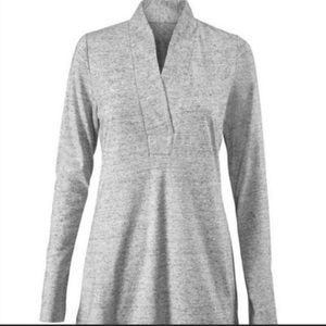 Cabi Style 3060 Placket Heather gray shirt small